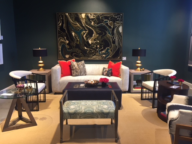 Various spaces featured a different mix of colors, patterns and styles for the unexpected look.